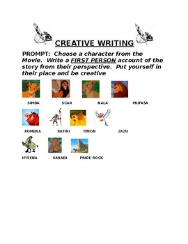Lion King Creative Writing Prompt