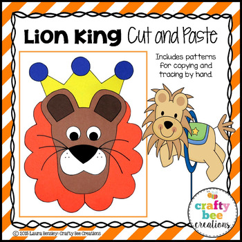 Lion King Cut and Paste
