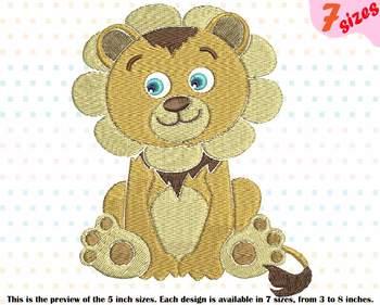 Lion King Embroidery Design Safari Cute Baby Animals King Wildlife