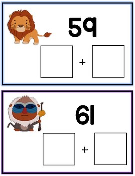 Lion King Expanded Form Math File Folder Game Place Value Tens & Ones