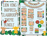 Lion King Inspired Jungle Theme - Classroom Decoration - Editable Bundle