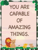 Lion King Inspired Jungle Theme - Classroom Decoration - Quote Posters