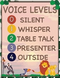 Lion King Inspired Jungle Theme - Classroom Decoration - Voice Levels