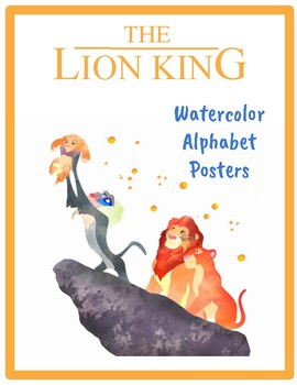 Lion King Inspired Water Color Alphabet