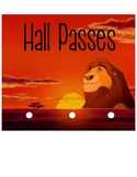 Lion King Themed Hall Passes