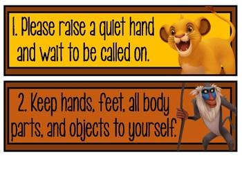Lion King Themed Rules FREEBIE