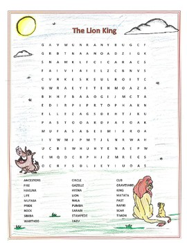 Lion King Music Worksheets Teaching Resources Tpt