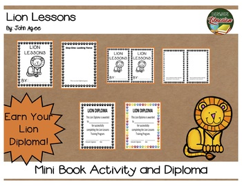 Lion Lessons by Jon Agee Literacy Extension Activity Library or Classroom