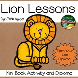 Lion Lessons by Jon Agee Literacy Extension Activity Libra