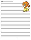 Lion Lined Paper