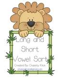 Lion Long vowel and short vowel word sort