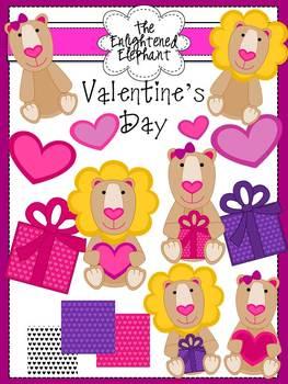 Lion Love Valentine's Day Clip Art