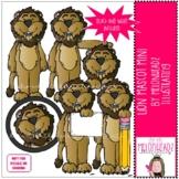 Lion Mascot clip art - Mini - by Melonheadz Clipart