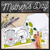 Lion Mother's Day Card Coloring Activity