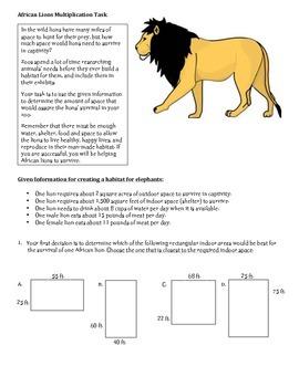 Lion Multiplication Task MJ tpt