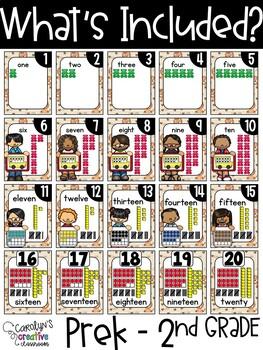 Lion Number Posters | Lion classroom Decor