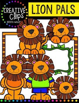 Lion Pals {Creative Clips Digital Clipart}