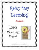 Lion Paper Bag Puppet