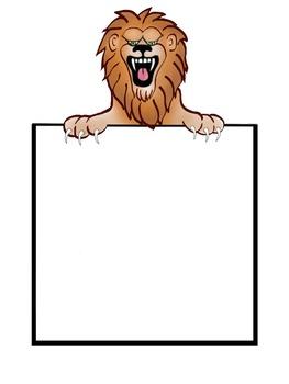 Lion Poster/Letterhead