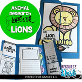 Lion Research Project - A Zoo Animal Research Lapbook