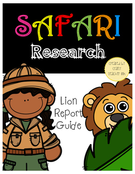Lion Research Report Printables (Safari Animal)
