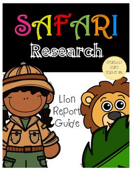 Lion Research Report Printables (Safari Animal)