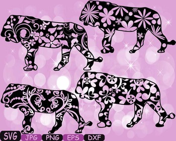 Lion Safari Monogram SVG Silhouette school Clipart zoo cir
