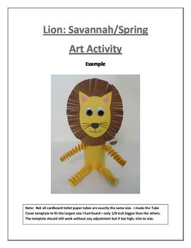 Lion: Savannah/Spring Art Activity