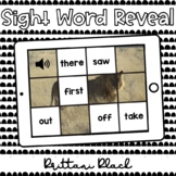 Lion Sight Word Reveal Set 5   Kindergarten Boom Cards