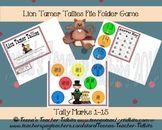 Lion Tamer Tallies File Folder Game Math Common Core Center