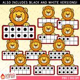 Lion Ten Frames Clip Art