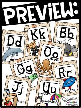 Lion Themed Alphabet Posters | Lion Classroom Theme