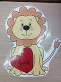 Lion Valentine Deskplates