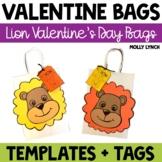 Lion Valentine's Day Treat Bags