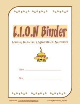 Lion {Zoo or Safari} Binder Cover