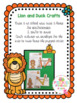 Lion and Duck Crafts