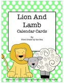 Lion and Lamb Calendar Cards FREEBIE