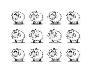 Lion and Lamb Composition cutouts