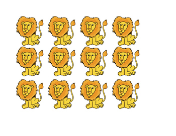 Lion and Lamb Composition cutouts (color)