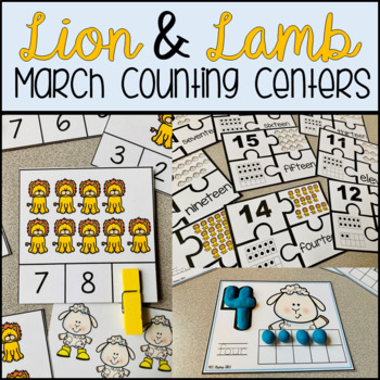 Lion and Lamb Counting March Centers and Activities