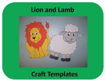 Lion and Lamb Craft Template