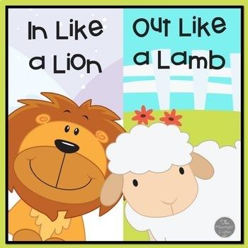 Lion and Lamb March Calendar Activities