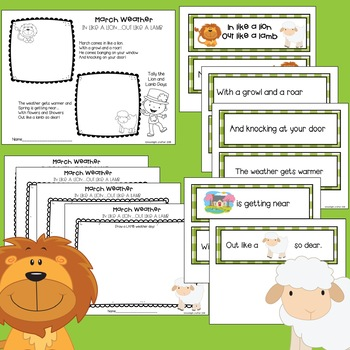 In Like a Lion Out Like a Lamb Activities for Pre-K and Kinders