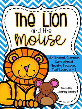 Lion and the Mouse Fable: CCSS Aligned Leveled Reading Passages and Activities