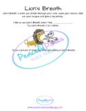Lion's Breath Worksheet