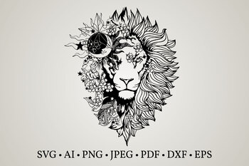 Download Lion svg,lion clipart,lion flower svg,lion face svg,svg ...
