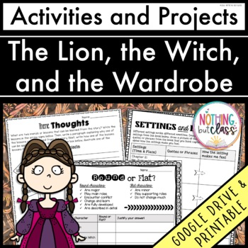 The Lion The Witch And The Wardrobe Reading Response Activities