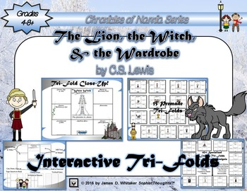 Lion, the Witch, and the Wardrobe Narnia C.S. Lewis Character Analysis Tri-Folds