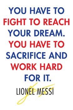 Lionel Messi Inspiration Poster PE