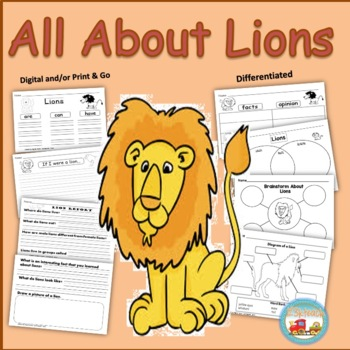 All about lions writing prompts graphic organizers diagram by all about lions writing prompts graphic organizers diagram ccuart Images